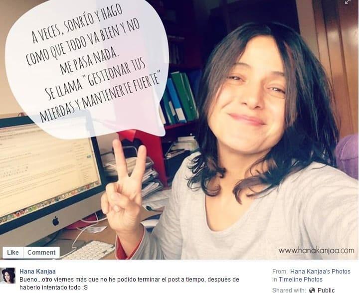 Hana Kanjaa marca personal por afinidad en Facebook