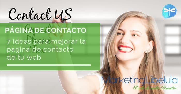 como crear la pagina de contacto web