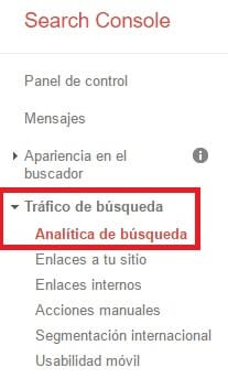 Keywords en Search Console