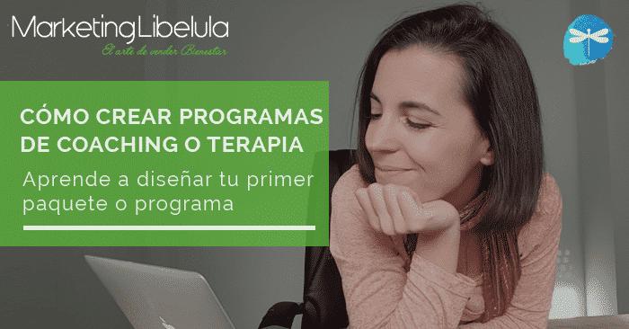 crear programas de coaching o terapia