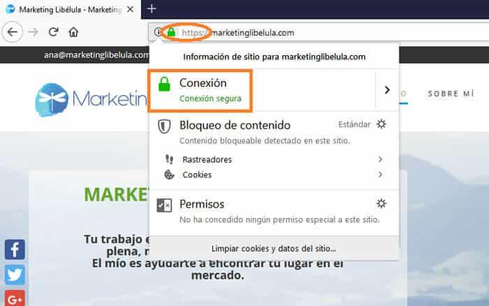 Certificado de seguridad Web